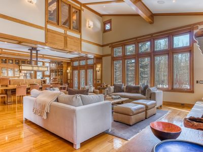 Photo for Luxurious riverfront retreat w/private gym & hot tub-up to two dogs are welcome!