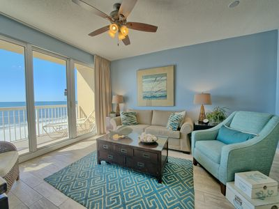 Photo for BEAUTIFUL BEACH FRONT LOW FLOOR CONDO! FREE BEACH SERVICE! WIFI/CABLE INCLUDED!