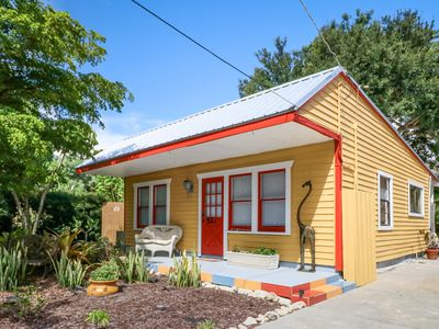 Photo for NEW LISTING! Whimsical cottage w/private garden, views, near the bay - dogs OK