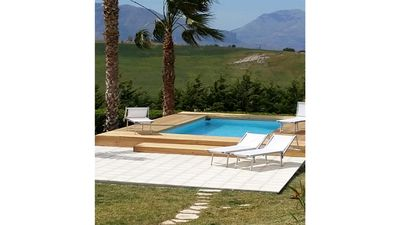 Photo for Villa apartment with views of the Gulf of Castellammare.
