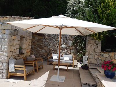 Photo for Beautiful sea view house with large private pool in St Jeannet