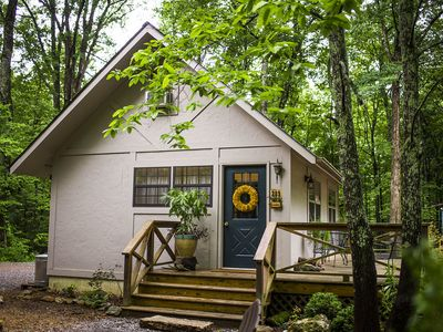 Photo for Beautifully updated cottage on a private lake near Tryon & Asheville