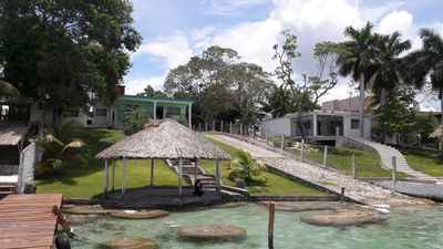 Photo for Beautiful house on the edge of the lagoon of bacalar