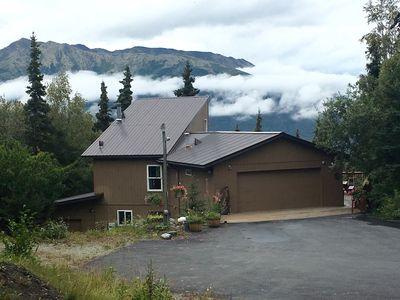 Photo for Great Mtn views, private setting, 20 minutes drive north of Anchorage