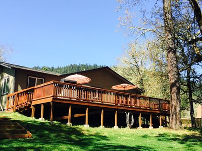 Photo for Peaceful Rogue Riverfront Home On 3 Acres!