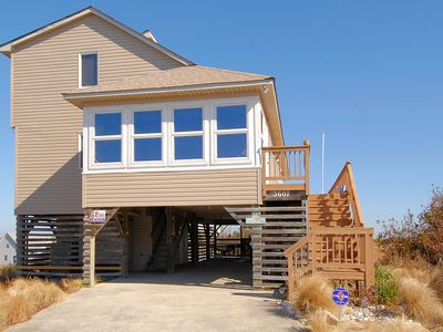 Photo for Maddie Mermaid's Beach House | 4 Bedrooms | Soundside | Kitty Hawk | Sleeps 12