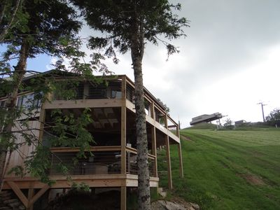 Photo for The best slopeside cabin with gorgeous views and the EASIEST entry and parking.