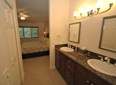 2nd floor, master ensuite with double sinks