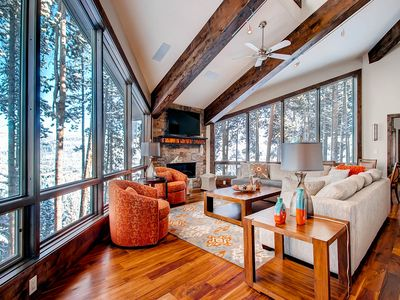Photo for Stunning views of town and beyond from this Breck Mountain Modern Chateau