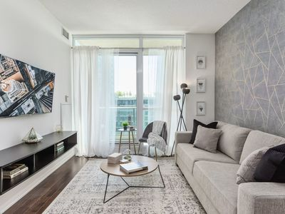 Photo for Modern Luxury Condo 2BR Style +6ppl +Free Parking!