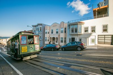 Cable Car passes our building.