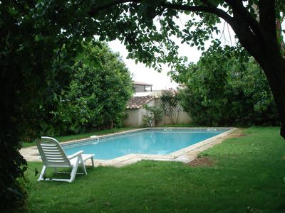 Photo for Villa with pool 10 x 5 and garden, sleeps 6, 2km beach, Perols