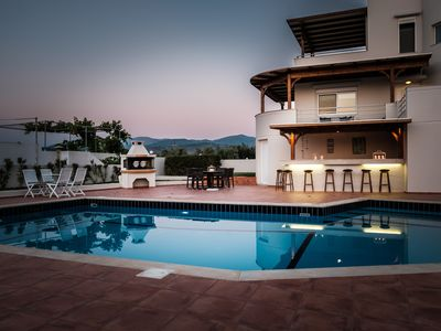 Photo for Villa Triton with large garden, private pool and stunning sea views, East Crete