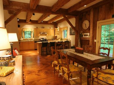 Photo for 1840s Restored Barn! Exposed beams! Private!  3 min Main Street & Lake Mansfield