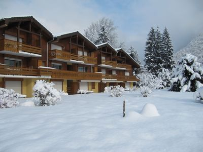 Photo for Samoens-App. 2 rooms-All Comfort-Quiet-Ground floor-South-Wifi- closed garage