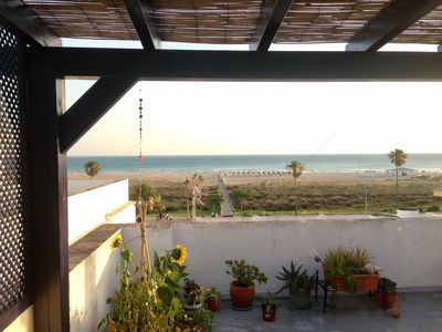 Photo for Apartment facing the sea, on the promenade of Conil. With shared terrace