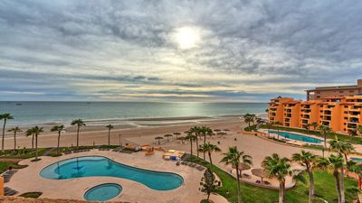 Photo for Right on the Beach! Ocean Front 2 Story Penthouse - Puerto Peñasco, Sonora