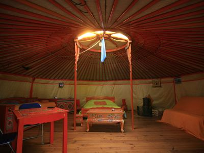 Photo for Ecological yurt with saltwater pool