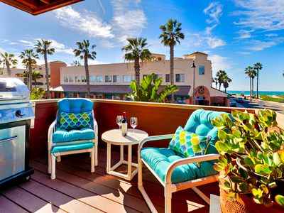 Photo for 25% OFF OCT Bright Corner Unit w/ Ocean Views, Steps to Beach, Shops & Dining