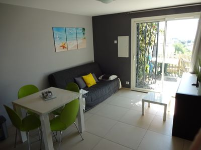 Photo for 2 ROOMS,Wifi,Parking lot,sea view. 1 bedroom + 1 living room with kitchen,...