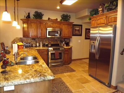 Beautiful fully stocked kitchen with every amenity you can imagine!