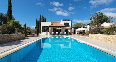 Photo for Three bedroom Villa Anassa (31) with private pool and golf course views. Walking distance to resort village square on Aphrodite Hills Resort