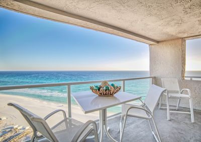 Dazzling views from the 18th floor beachfront balcony