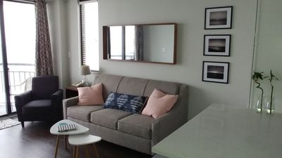 Photo for Brand new, ultra modern, Ocean Front King Condo with Quartz Counters!