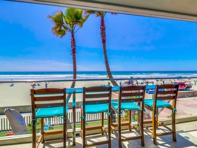 Photo for Beautiful oceanfront in South Mission Beach-Brand new listing!!
