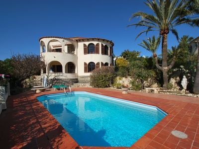 Photo for Holiday home close to the beach,  private pool, sea view, air condition