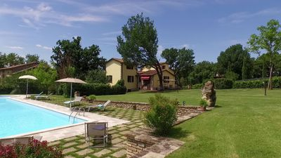 Photo for Tuscany farmhouse, with  pool, A/C, WIFI,  very suitable family