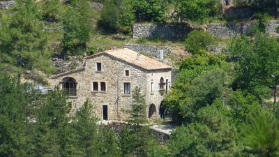 Photo for Beautiful Ardèche stone house with pool (June to September)