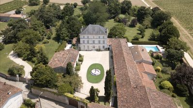 Mansion/chateau, gated, private parkland, pool and the properties outbuildings