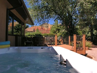Photo for Awesome Red Rock Views & Private Outdoor Living Space with Hot Tub.