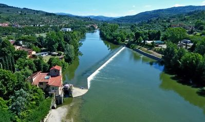 Photo for One romantic B & B in ancient 13th century Mill on the river Arno near Florence