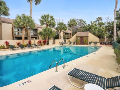 Photo for Sun-kissed Villa with Pool - Just steps from Hilton Head's Best Beaches!