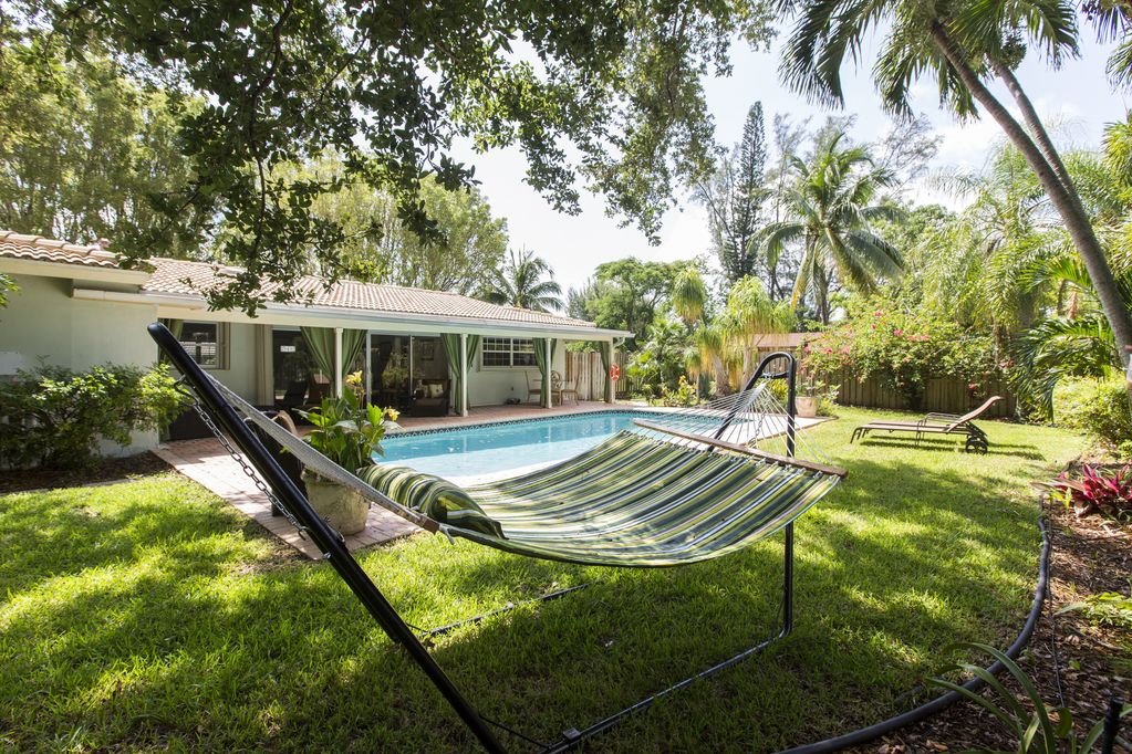 Entire home with a private back yard, a heated pool and ...