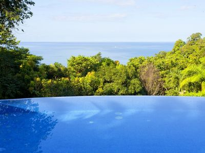 Photo for Stunning 5 family-friendly villa with a large pool and ocean views in Tulemar Resort Costa Rica