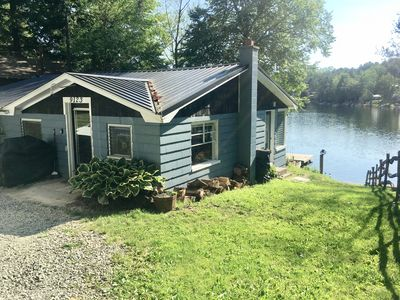 Photo for 2/3 Bedroom Waterfront Cottage on Secluded Lake Demmon. Clear and clean Water