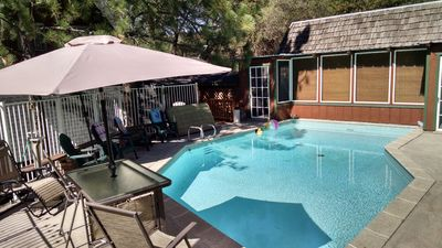 Photo for YOSEMITE~PRIVATE POOL/HOT TUB.  CABIN & detached STUDIO--COUPLES/FAMILY FRIENDLY