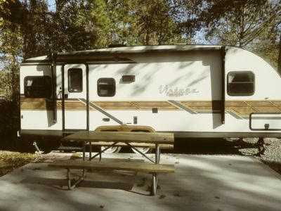 """Photo for RETRO """"Vintage Style"""" Camper/ 2.5 miles to the Oceanfront!"""