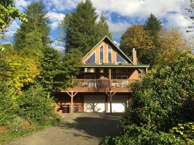 Your home away from home, with lake view, fireplace, hot tub, and lovely garden