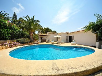Photo for 4 bedroom Villa, sleeps 7 in Javea with Pool, Air Con and WiFi