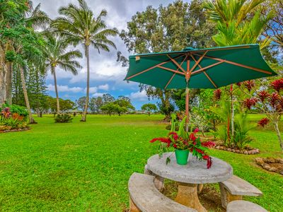 Photo for Private Home w/Bali Hai View, A/C, Fronting The Golf Course. Princeville Cottage