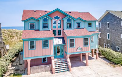 Photo for K1205 Lazy Lizard Newly Remodeled Nags Head Oceanfront! Sleeps 22!