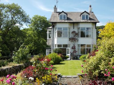 Sunny Bank Mill House and garden, beside pretty Torver Beck