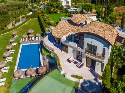Photo for 10 BEDROOM VILLA 34121321 NEW GOLDEN MILE, MARBELLA HOLIDAY VILLA RENTAL WITH PRIVATE POOL