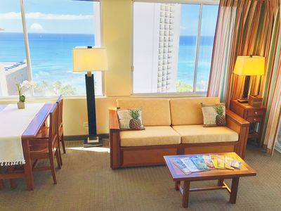 Photo for Walker Paradise! High Floor Corner Unit Ocean View at Pacific Monarch Hotel