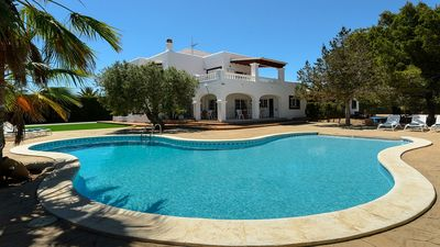 Photo for Large Modern Villa with Private Pool, Tennis Court and Gym with views to the Dalt Vila and the Sea !