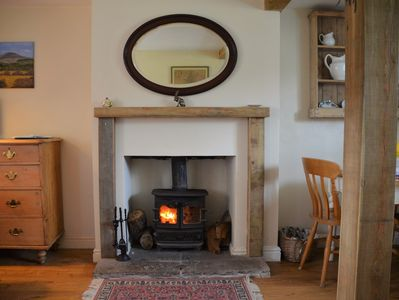 Warming wood burner for those chillier evenings